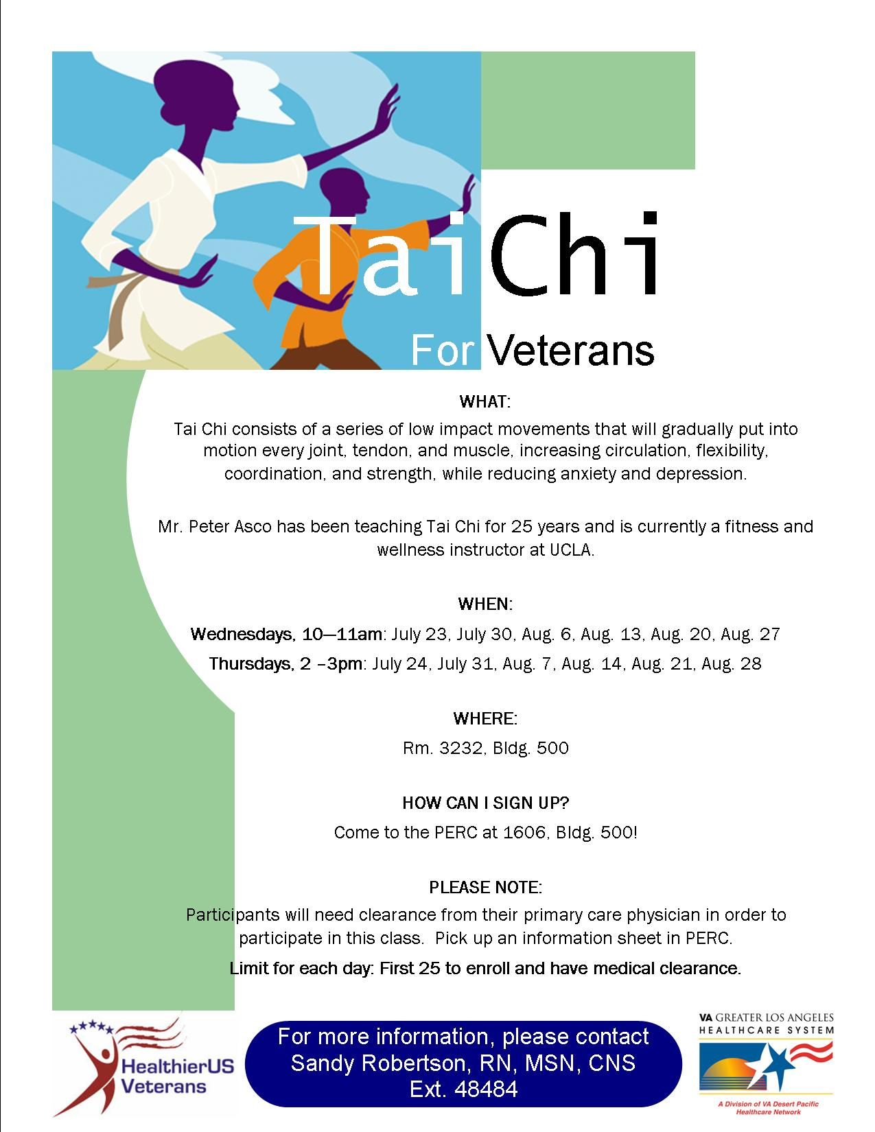 Tai Chi For Veterans