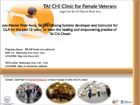 New Tai Chi Clinics for Female Veterans