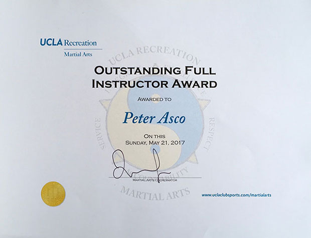 Outstanding Instructor 2017